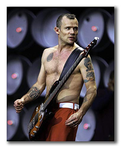 wallsthatspeak Flea of The Red Hot Chili Peppers Performing at Live Earth at The Wembley Stadium in London Unframed Poster 8 X 10 inches
