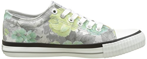 British Knights Master Lo, Women's Low Grey (Grey Grey/Mint Flower)