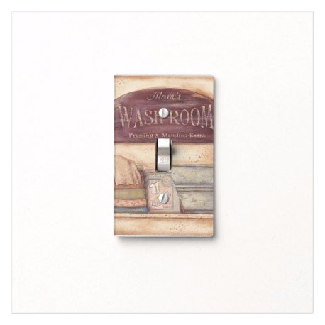 Laundry Switch - Mom's Laundry Service Primitive Light Switch Cover for laundry