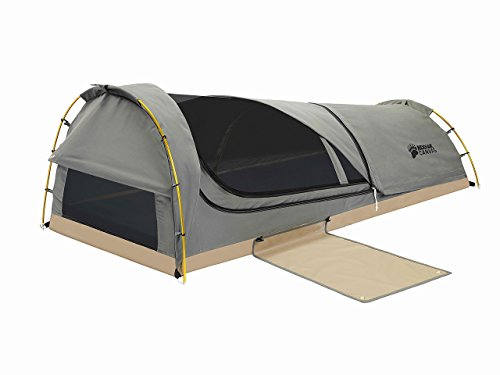 Kodiak Canvas 1-Person Canvas Swag Tent with Sleeping Pad, Olive, One Size