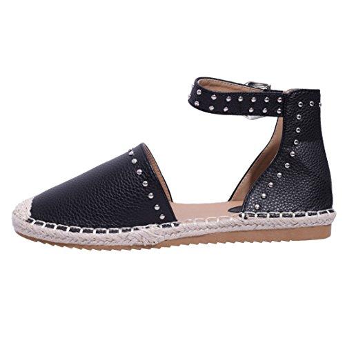 Espadrillas Estivo Piattine Abbigliamento Per In E Fibbia Nera Scarpe Con Sandalo Law Ecopelle Piatte Pompa Donna xqX08OY