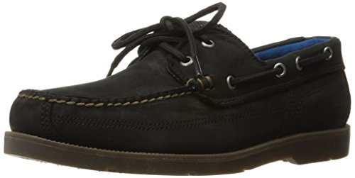 Timberland Men's Piper Cove Fg Boat, Jet Black Oiled Nubuck, 8.5 M - Nubuck Leather Shoes