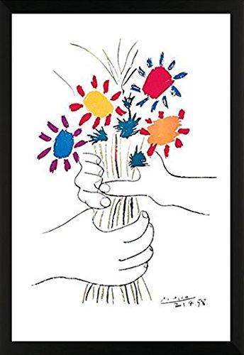 Pablo Picasso Petite Fleurs (Small Flowers) Decorative Floral Expressionist Fine Art Print (24x36 Framed Poster)