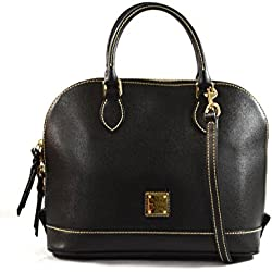 Dooney & Bourke Handbag Zip Zip Saffiano Satchel in Black