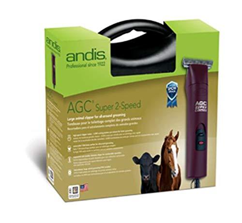 Andis 2-Speed Detachable Blade Equine & Livestock Professional Grooming, Burgundy 22330, ()