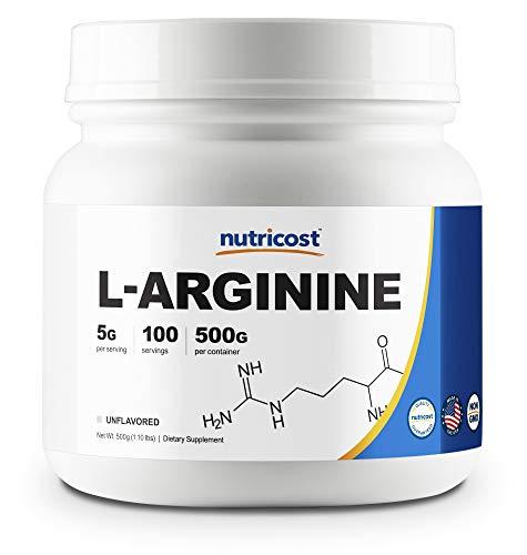 Best Arginine Powders - Nutricost L-Arginine Powder 500 Grams (1.1lbs)