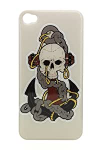 WMSHOPE? iPhone 4 4s Case Cover SKULL ANCHOR CHAIN SUGAR DAY OF THE DEAD