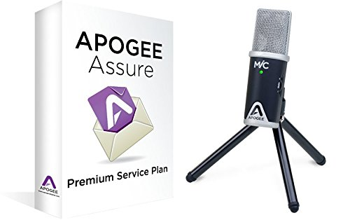 MiC 96k Professional Quality USB Microphone for iPad, iPhone, and Mac with 3 Year Apogee Assure Premium Service Plan by Apogee