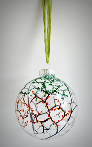 Holiday Art Painted Glass (Four Seasons Ornament, Hand Painted Glass Christmas Ornament, Four Seasons Ornaments, Holiday bulbs)