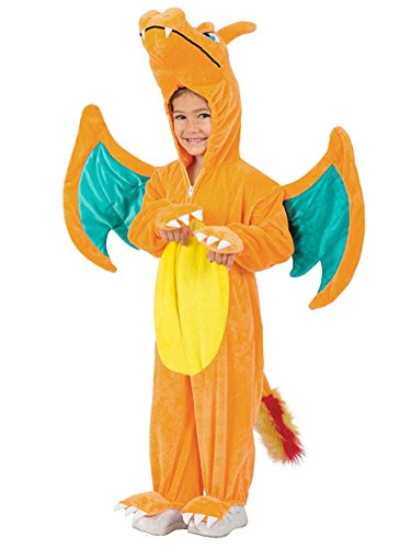 Princess Paradise, Pokémon Charizard Jumpsuit, XS - Pokemon Charizard Child Costumes