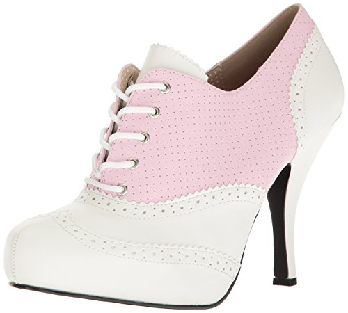 Pleaser Women's Pinup07/Bp-Wpu Platform Pump B. Pink-wht Faux Leather sast cheap online cheap for sale hkQfJ6