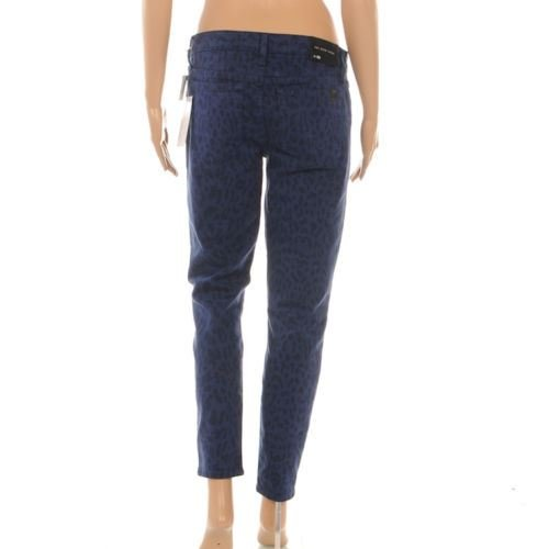 High Corto ' Agua Denim Jeans Leopardo Estampado 'the Azul Joe's BfXxHx
