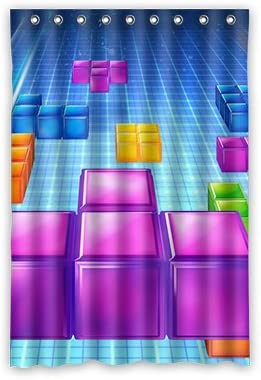 Dalliy Tetris disfraz cortina de la ducha Shower Curtain 120 cm x ...