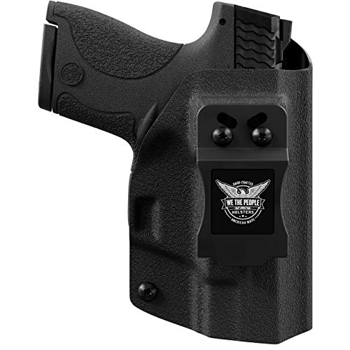 We The People - IWB Holster Compatible with Glock 19 23 32 45 19X Gen 3-4-5 Gun - Inside Waistband Concealed Carry Kydex Holster (Right Hand, Black)