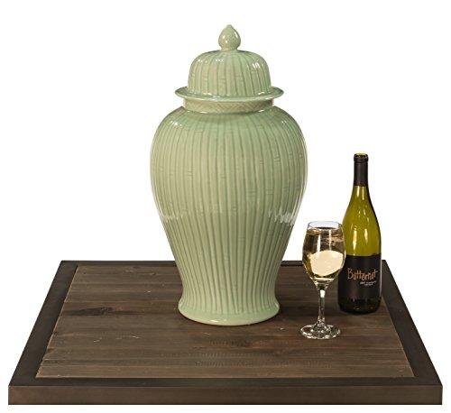 Sarreid 30862 Celadon Bamboo Temple Jar by Sarreid