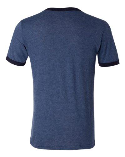 Canvas Men's Robertson Heather Ringer Short Sleeve T-Shirt - HEATHER NVY/MIDNIGHT - Large
