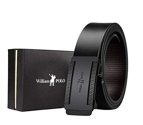 - WilliamPOLO Mens Belts Leather, Invisible Belt Tail Belt for Men with Elegant Gift Box