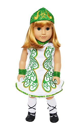 My Brittany's Green Irish Dance Outfit for American Girl Dolls-Doll Clothes for American Girl Dolls