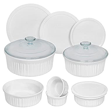 CorningWare French White 12-Piece Round Set