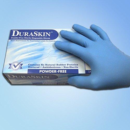 Nitrile Industrial Gloves, PF, 3.5 mil, LG, 1000/case by DuraSkin