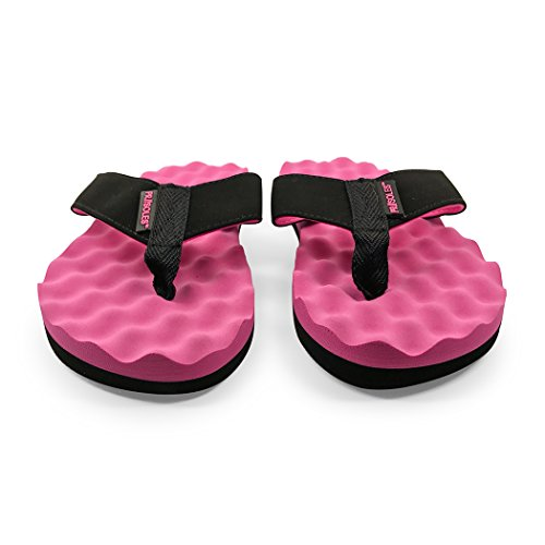 Weg Voor Een Run Voor Zolen Met Herstel-flip-flops | Sandalen Voor Dames En Heren Zwart / Roze