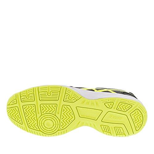 Asics Unisex-Kinder Gel-Gamepoint Gs Turnschuhe Schwarz (Black/safety Yellow/white)