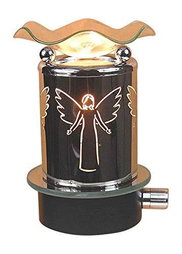 L&V Electric Metal Plug in Night Light Wax Burner Oil Warmer Angel Design