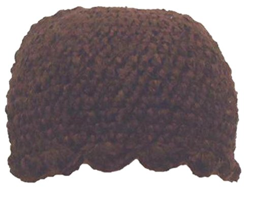 - Hand Crocheted Dark Brown Color 100% Rayon Chenille Gimp Beret