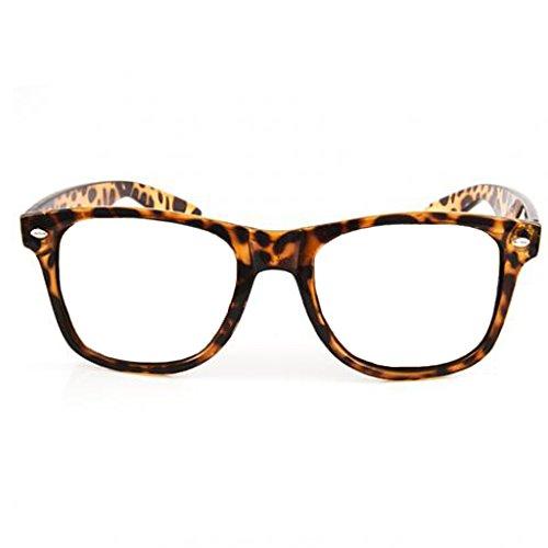 Retro Horned Rim Retro Classic Nerd Glasses Clear Lens (Tortoise, - Tortoise Glasses Rim