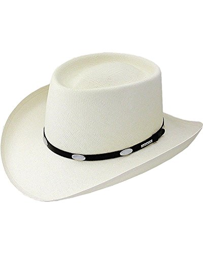 Stetson Men's Royal Flush 10X Shantung Straw Cowboy Hat Natural 7 5/8