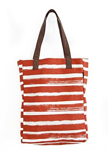 Maika Stripes Size Tangerine Women's Tote Market One r8raqX