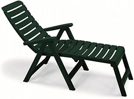 Sillón Verde Bosque con alargador (resina, sillones plegables de jardín, sillón convertible en edredón de cuna: Amazon.es: Hogar