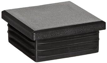 Kapsto 260 Q 4545 1.5 - 2 Polyethylene Square Plug, Black, 45 mm (Pack of 100)