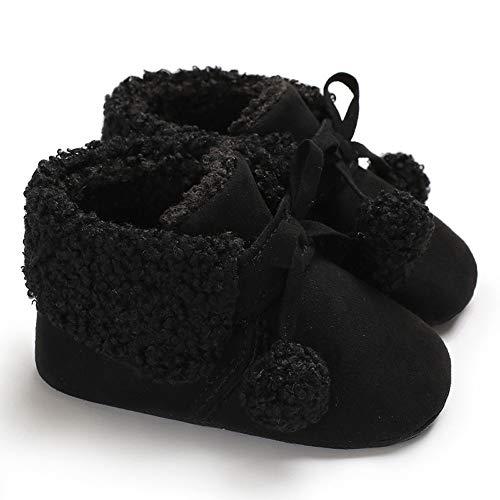 Ashop Bebé Nacido Cálido Nieve Recién De Zapatillas Botas Negro Deporte Calzado Zapatos Colegio Niña qTE5x
