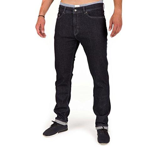 bleed Active Jeans black Bio-Baumwolle Herren GOTS vegan mit Kork Patch schwarz verwaschen