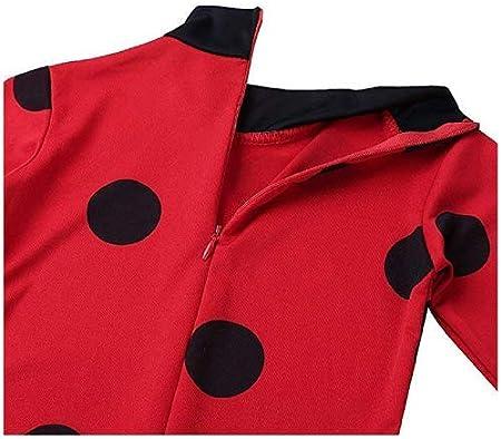 Ladybug 4-6 Anni Inception Pro Infinite Taglia M Carnevale Coccinella Lady Bug Costume Halloween Travestimento Colore Rosso Bambina