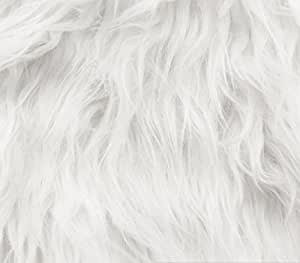 faux fur fabric long pile gorilla white 60 wide sold by the yard. Black Bedroom Furniture Sets. Home Design Ideas