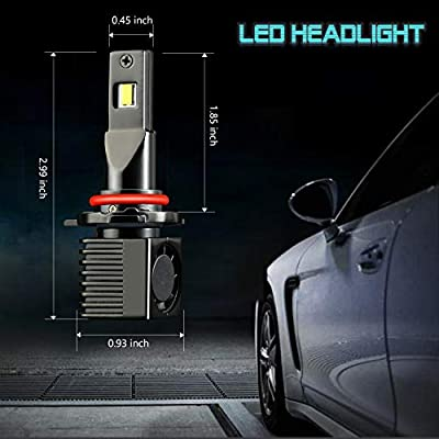 JDM ASTAR T2 High Performance 9012 Bright White Light Output More Downroad Visibility LED Headlight Bulbs: Automotive