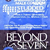 Okamoto Beyond Seven Studded Lubricated Ultra Thin Sheerlon Latex Condoms for Enhanced Pleasure - Pack of 50