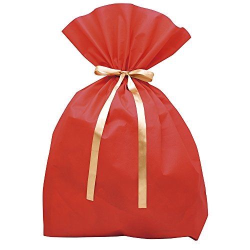 TAKA Drawstring Gift Bag Very Large Size Red W 2.46 Ft x D 9.44 In x H 3.28 Ft ( Made in Japan ) 50-3951