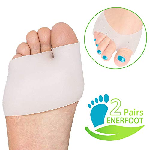 Metatarsal Pads Ball of Foot Cushions- Soft Gel Ball of Foot Pads - Mortons Neuroma Callus Metatarsal Foot Pain Relief Bunion Forefoot Cushioning Relief Women Men (Type 1)