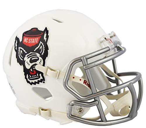 - NC North Carolina State Wolfpack Alternate Ice Wolf NCAA Riddell SPEED Mini Football Helmet
