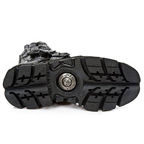 Nieuwe Rock Handgemaakte M 391 C19 Staalkleurige Unisex Stiefel