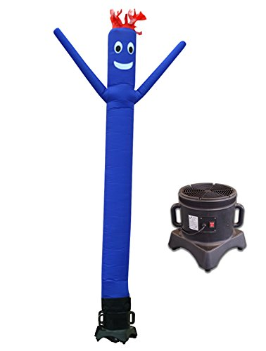 (LookOurWay 10ft Air Dancers Inflatable Tube Man Complete Set with 1/2 HP Sky Dancer Blower, 10-Feet, Blue)