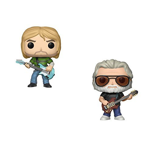 Funko Pop Rocks Series 3 Kurt Cobain In Striped Shirt And Jerry Garcia Vinyl Figures Set