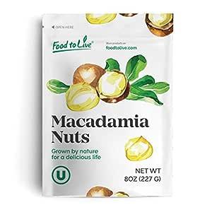 Macadamia Nuts, 8 Ounces - Raw, Kosher