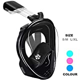 Full Face Snorkel Mask - 180° Panoramic View Snorkel Gear,Comfort and Superior Optics in A Snorkeling Mask. for Adult and Kids Snorkel...