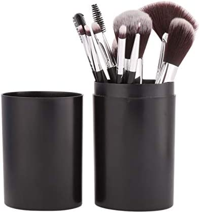 Set de 12 unds. brochas, cepillos y pinceles de maquillaje en estuche uso particular y profesional y para viajes, fines de semana, bolso, textura suave y resistente de CHIPYHOME: Amazon.es: Belleza