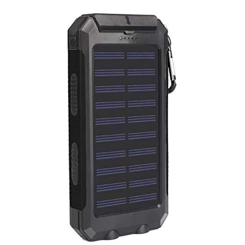 FANMURAN Cargador de batería Externo portátil Dual del Banco de la energía Solar de la luz Dual del LED 25000mAh LED para...