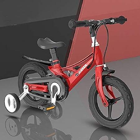 Accesorios para Bicicletas de 14 Pulgadas Bicicleta para niños con Ruedas auxiliares, Tamaño: 14 Pulgadas, Zhongxianshangmaoyouxiangongsi (Color : Tango Red)